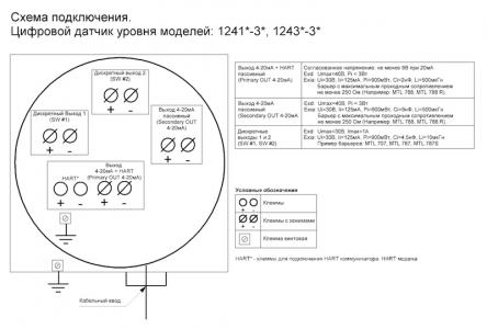 Схема подключения 1241*-3* и 1243*-3*